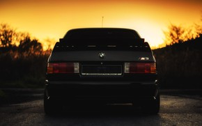 Картинка Закат, Солнце, Авто, Черный, BMW, Машина, Бумер, Лого, БМВ, E30, BMW M3, BMW E30, BMW …