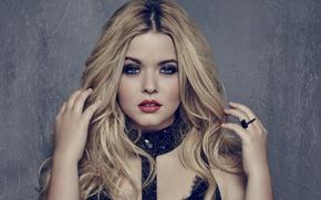 Картинка портрет, макияж, актриса, блондинка, Sasha Pieterse