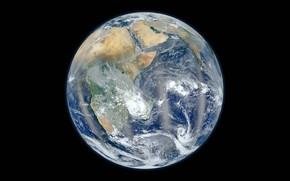 Обои облака, планета, Африка, Земля