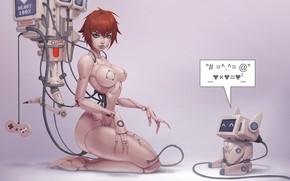 Картинка робот, арт, андроид, boris dyatlov, some droids