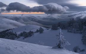 Обои зима, мороз, Демерджи, Крым наш
