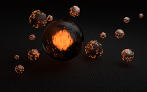 Картинка light, render, spheres, reflection, material, blender3d, cycles