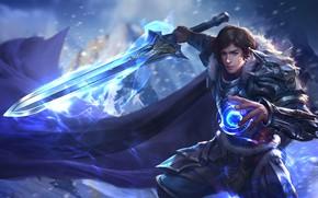 Картинка магия, меч, бой, воин, фэнтези, арт, work, скил, yihua lv