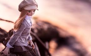Картинка девушка, кукла, кепка