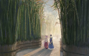 Картинка Девушки, Бамбук, Тохо, Тоухоу