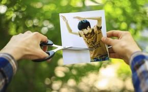 Картинка креатив, фотошоп, парень, идея, зеленный, photoshoop, poshpan