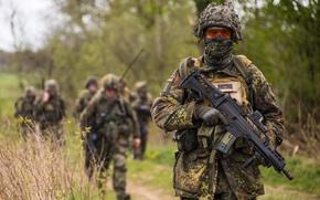 Обои Bundeswehr, солдат, автомат