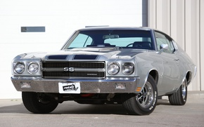 Картинка Chevrolet, silver, muscle car, Chevelle SS