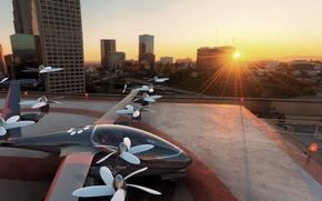 Картинка city, concept, logo, drone, aerial vehicle, Joby S2