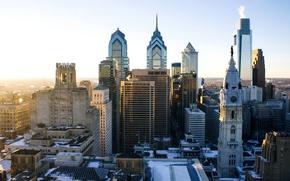 Картинка небоскреб, дома, Нью-Йорк, панорама, США