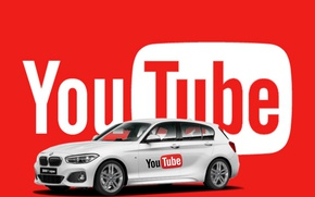 Картинка BMW, goodfon, Red, Black, fon, YouTube