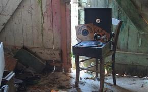 Картинка стул, винил, проигрыватель пластинок, музыка, фон, пластинки