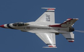 Картинка небо, авиация, боевой самолёт, крылатая машина, F-16CJ Fighting Falcon