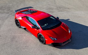 Картинка авто, красный, Lamborghini, Novitec, Torado, Huracan, LP 580-2