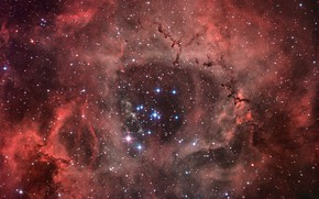 Картинка Туманность, Розетка, Единорог, в созвездии