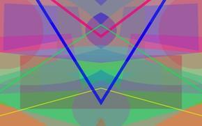 Картинка абстракт, фигуры, симметрия