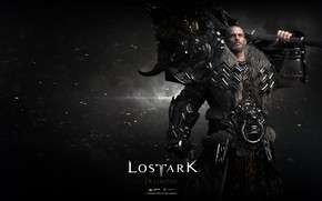 Картинка оружие, игра, воин, парень, Lost Ark