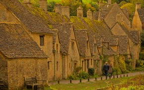 Картинка Англия, дома, деревня, Бибери