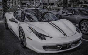 Картинка Ferrari, white, black, 458, auto