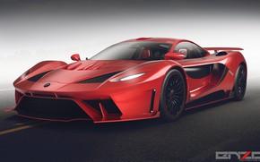 Картинка асфальт, дизайн, автомобиль, Poison car concept