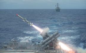 Картинка гарпун, пуски ракет, противокорабельная ракета