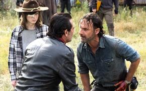 Картинка Jeffrey Dean Morgan, 7 сезон, The Walking Dead, Andrew Lincoln, Chandler Riggs, ходячие, 16 серия