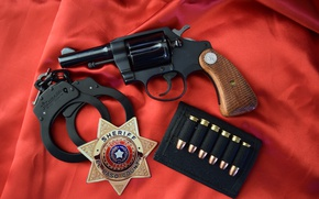 Обои значок, наручники, 1970, colt, Detective Special 3