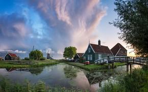 Картинка Нидерланды, Голландия, Zaanse Schans, Zaanstad
