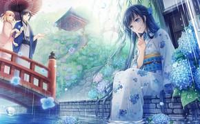 Обои пара, романтика, девушка, аниме, арт