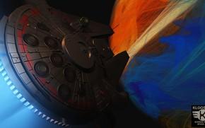 Картинка транспорт, корабль, аппарат, falcon planet, Planet Fall