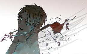 Картинка арт, Shingeki no Kyojin, Эрен Йегер, Атака титанов