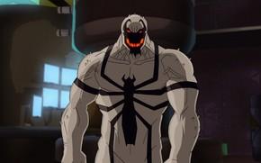 Картинка spider-man, комиксы, cartoon, Marvel, animated film, Anti-Venom, Анти-Веном, симбиот, Ultimate Spider-Man, cartoon film