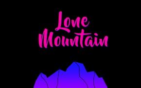 Картинка горы, розовый, черный, минимазизм
