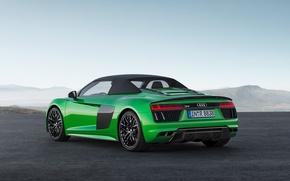 Картинка car, Audi, green, logo, Audi R8, Audi R8 Spyder, Audi R8 Spyder V10, Audi R8 …