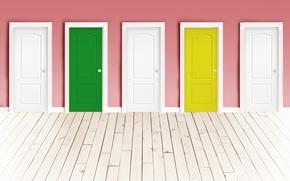 Картинка стена, пол, двери, цвет