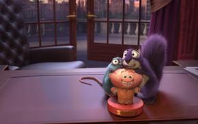 Картинка мультфильм, белка, крыса, персонажи, The Nut Job 2