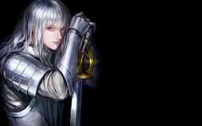 Картинка demon, sword, game, armor, devil, anime, man, ken, blade, Berserk, evil, manga, powerful, strong, oni, …