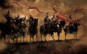 Обои horse, Arthur, king, armor, King Arthur, war, fight