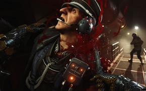 Картинка blood, game, soldier, Wolfenstein, Wolfenstein 2, Wolfenstein II The New Colossus, Wolfenstein 2 The New ...