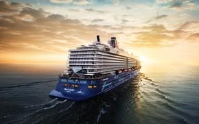 Картинка Море, Лайнер, Судно, Пассажирский, Пассажирский лайнер, Корма, Mein, TUI Cruises, Royal Caribbean Cruises, TUI, Schiff, …