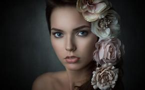 Картинка портрет, губки, Vanessa, ретушь, Michael Schnabl