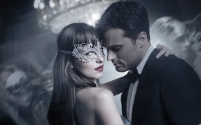 Обои cinema, film, Fifty Shades of Grey, Fifty Shades, Christian Grey, Fifty Shades Darker, Steele, mask, ...