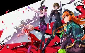 Картинка girl, game, hat, anime, mask, headphone, seifuku, Persona 5, Persona, japonese, bishojomask
