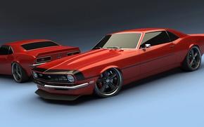 Картинка ретро, купе, Chevrolet, Camaro