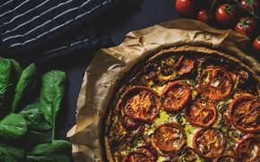 Картинка еда, сыр, овощи, пицца, помидоры