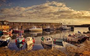 Картинка Англия, лодки, гавань