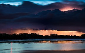 Картинка гроза, небо, тучи, стихия, молния