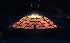 Обои Mission, девушка, SpaceX, Mars, планета, астронавт, арт, Марс, космический корабль