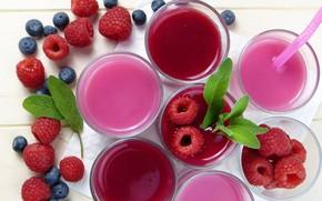 Обои ягоды, сок, напиток, фреш