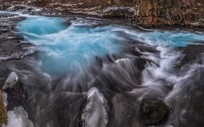 Картинка река, поток, Исландия